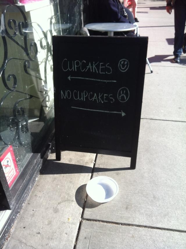Cupcakes. No Cupcakes.